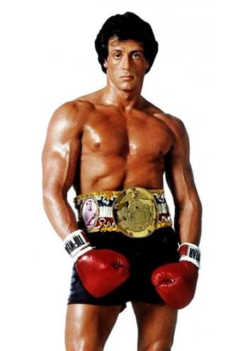 Fotografia de divulgação do filme Rocky III de 1982.