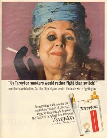 Poster Tareyton, August 1965.