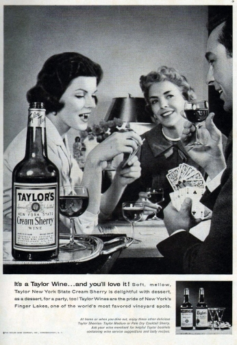 Taylor's Cream Sherry Wine, December 1960