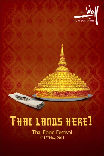 Poster Thai Lands Here Food Festival.