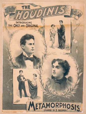 Poster The Houdinis, Harry, Bessie Introducing The Only And Original.