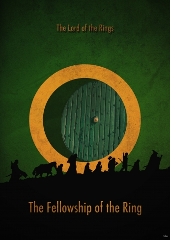 The Lord of the Rings Minimalist Poster