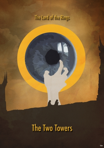 The Lord of the Rings The Two Towers Minimalist Poster