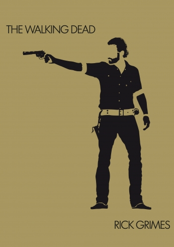 The Walking Dead Minimalist Rick Grimes