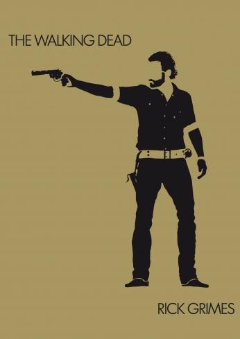 The Walking Dead Minimalist Rick Grimes