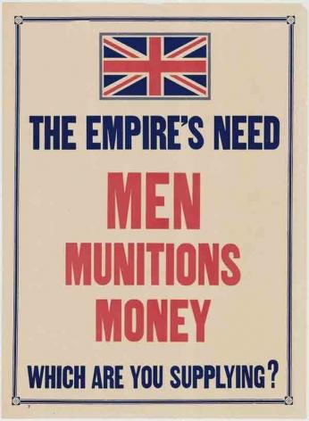 The Empire's Need Men Munition Money