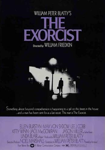 Filme: The Exorcist (O Exorcista, 1973). Direção: William Friedkin. Elenco: Ellen Burstyn, Max von Sydow, Linda Blair.