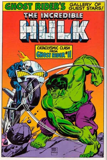 The Incredible Hulk and Ghost Rider
