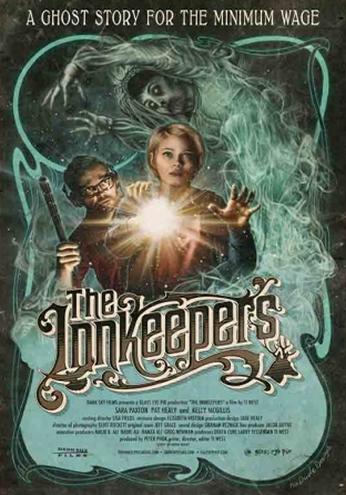 Filme: The Innkeepers (Hotel da Morte, 2011). Direção: Ti West. Elenco: Sara Paxton, Pat Healy e Alison Bartlett.