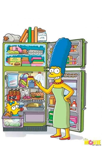 The Simpsons Movie - Teaser Poster - Refrigerator