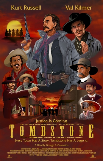 Tombstone Movie Fan Poster.