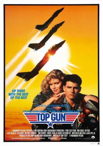 Filme: Top Gun (Top Gun: Ases Indomáveis, 1986) Direção: Tony Scott Elenco: Tom Cruise, Tim Robbins, Kelly McGillis, Val Kilmer
