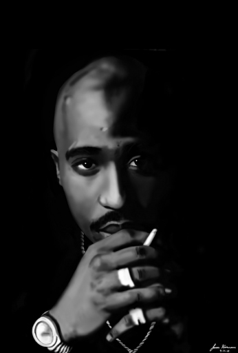 Tupac Amaru Shakur - 2Pac Digital Speed Painting.