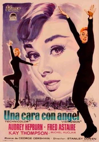 Filme: Funny Face (Cinderela em Paris, 1957). Direção: Stanley Donen. Elenco:  Audrey Hepburn, Fred Astaire, Kay Thompson.