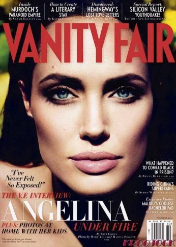 Capa da revista Vanity Fair com a atriz Angelina Jolie, Outubro de 2011