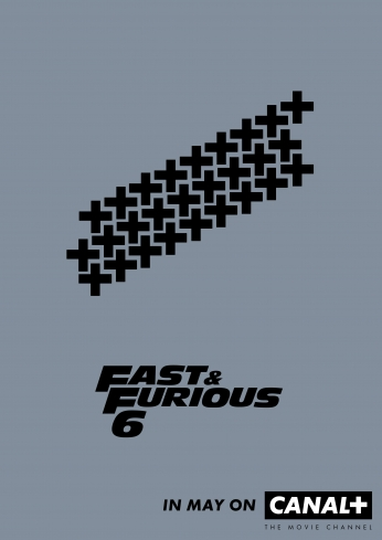 Velozes e Furiosos Fast and Furious 6 Minimalist Poster.