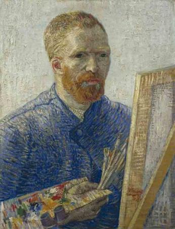 Vincent van Gogh - Autorretrato em frente ao Cavalete - 1888
