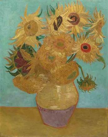 Vincent van Gogh - Vaso com Doze Girassóis - 1889
