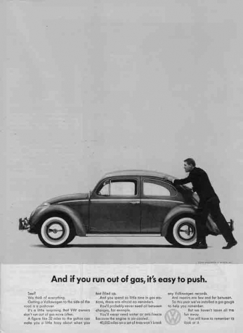 Volkswagen Beetle - It's Easy to Push