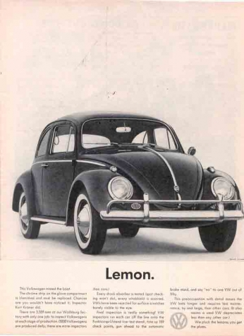 Volkswagen Beetle - Lemon