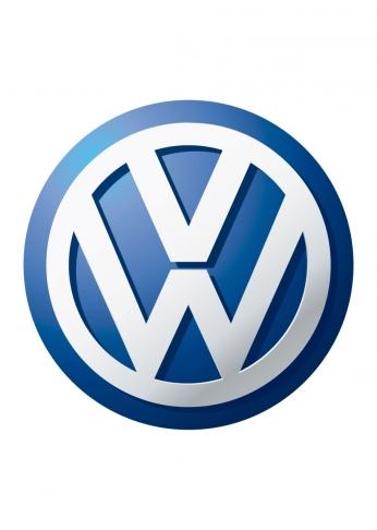 Pôster Logo Volkswagen 3D Colorido.
