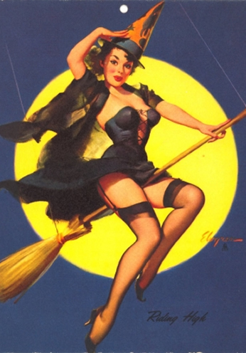 Witch Riding High by Gil Elvgren